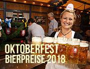 Oktoberfest 2018 - die Preisentwicklung bei den Getränken. Bierpreise, Limonaden- und Tafelwasserpreise (©Foto: Martin Schmitz)